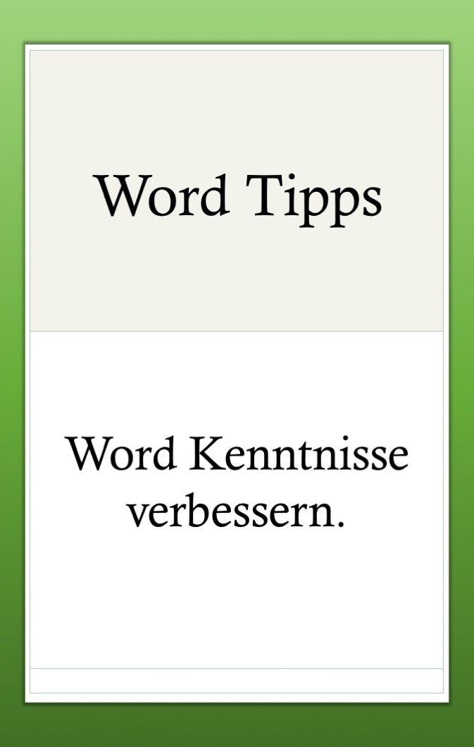 Pin Von Julias Auf Sonstiges Excel Tipps Kenntnisse The Words