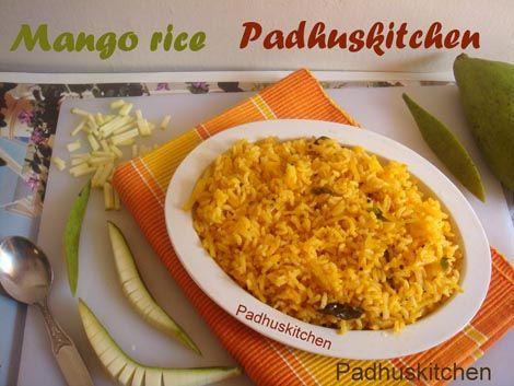 Mango Rice-Raw Mango Masala Rice Recipe-Mango Recipes