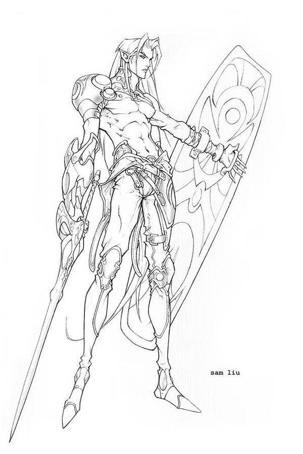 Elf Warrior By Samliu Deviantart Com On Deviantart
