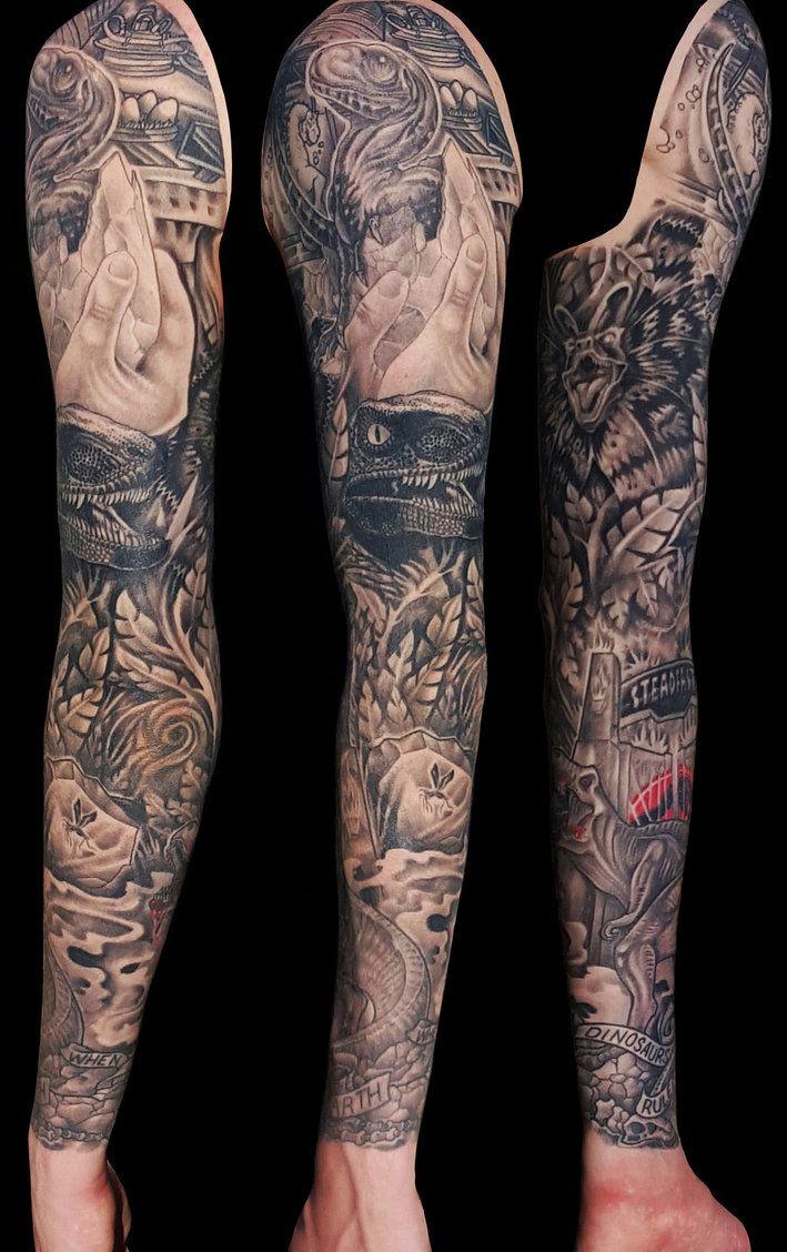 jurassic park sleevemarshall arts | skin. | pinterest | tattoos