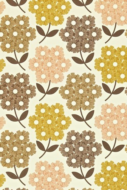 Orla Kiely Rhododendron | Wallpaper ideas, Orla kiely and Living rooms