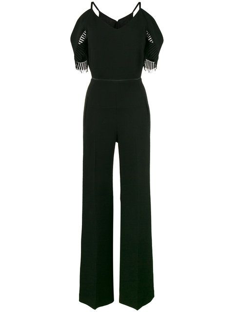 8752f3529302 ROLAND MOURET Black Cold Shoulder Jumpsuit.  rolandmouret  cloth  jumpsuit