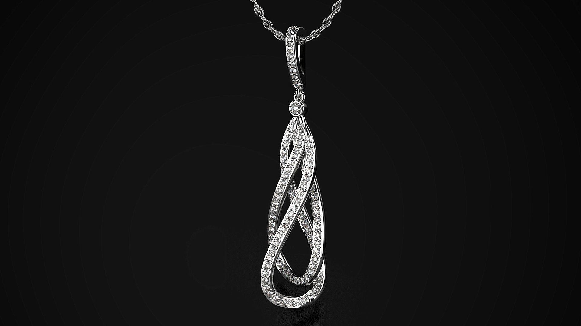 Prestige Intertwined Diamond Pendant