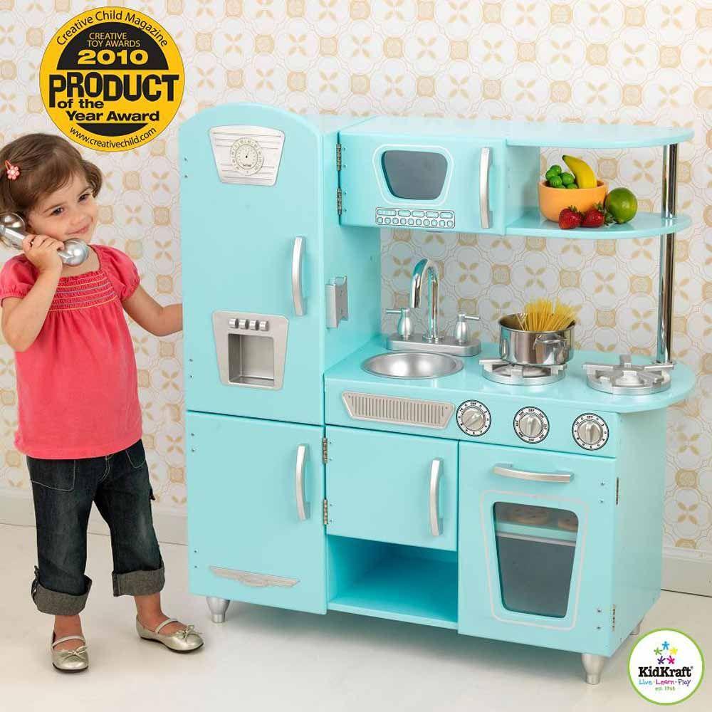 Super Cute Vintage Style Kids Kitchen | Play Time | Pinterest ...