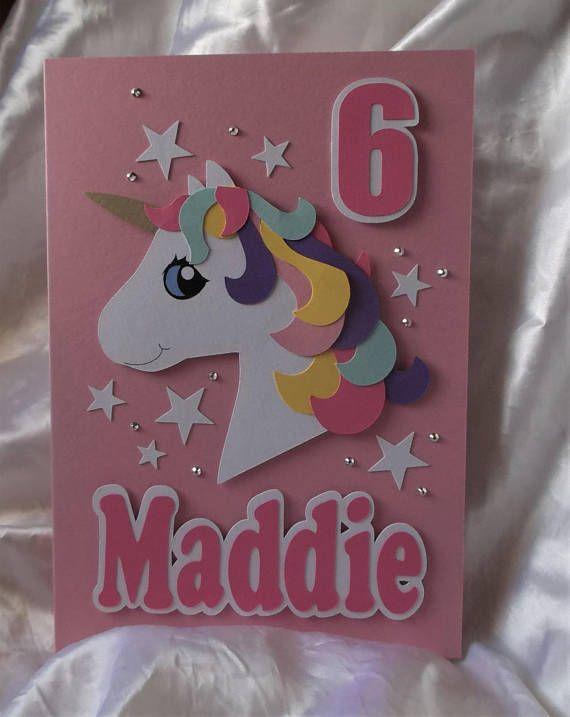 personalised handmade 1st 2nd 3rd etcunicorn birthday