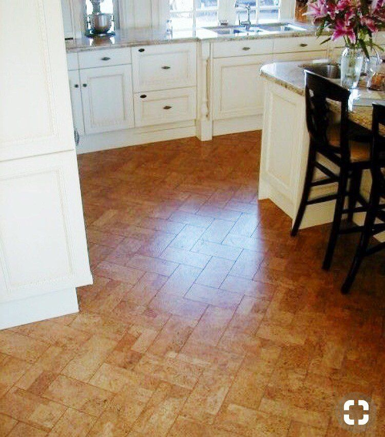 Herringbone Cork Board Kitchen Flooring Cork Flooring Flooring