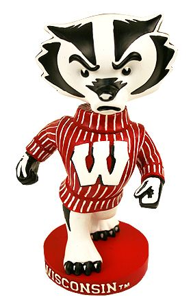 Wisconsin Badgers Bucky Bobblehead How Cool Would This Look On My