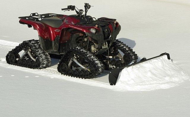 Atvsnowtrax Snow Plow Kit Steel 1650mm For Tracks Fitted Atv S