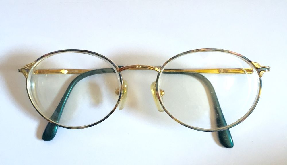 Laura Ashley Eye Glass Frames Round Metal Logo Nose Pads Multi Color ...