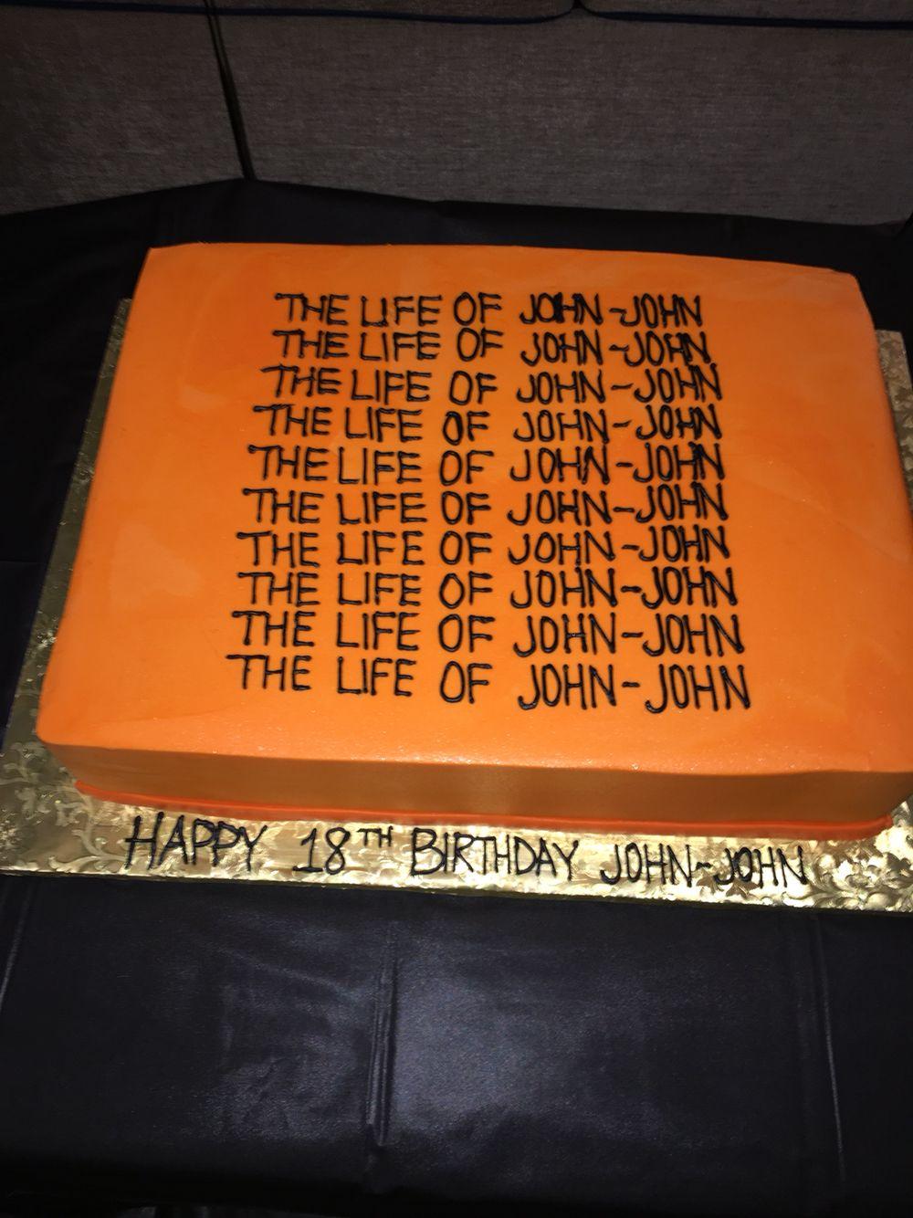 Kanye West Birthday Cake Kanye Lifeofpablo Birthday Birthdaycake Kanyewest Kanye West Birthday Pretty Birthday Cakes Birthday Cake Illustration