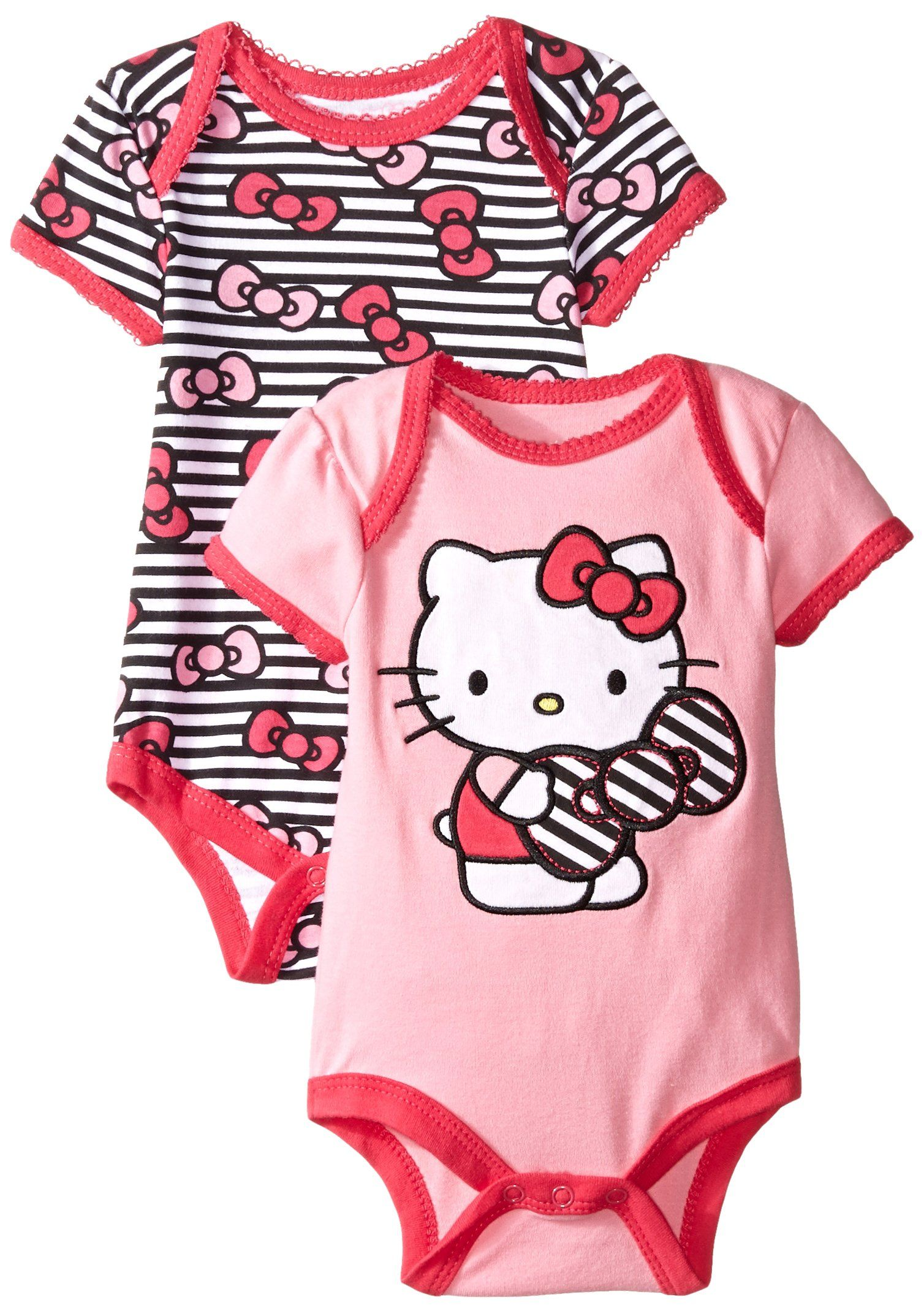 582401f89 Amazon.com: Hello Kitty Baby-Girls Newborn Love 2 Pack Bodysuit: Clothing