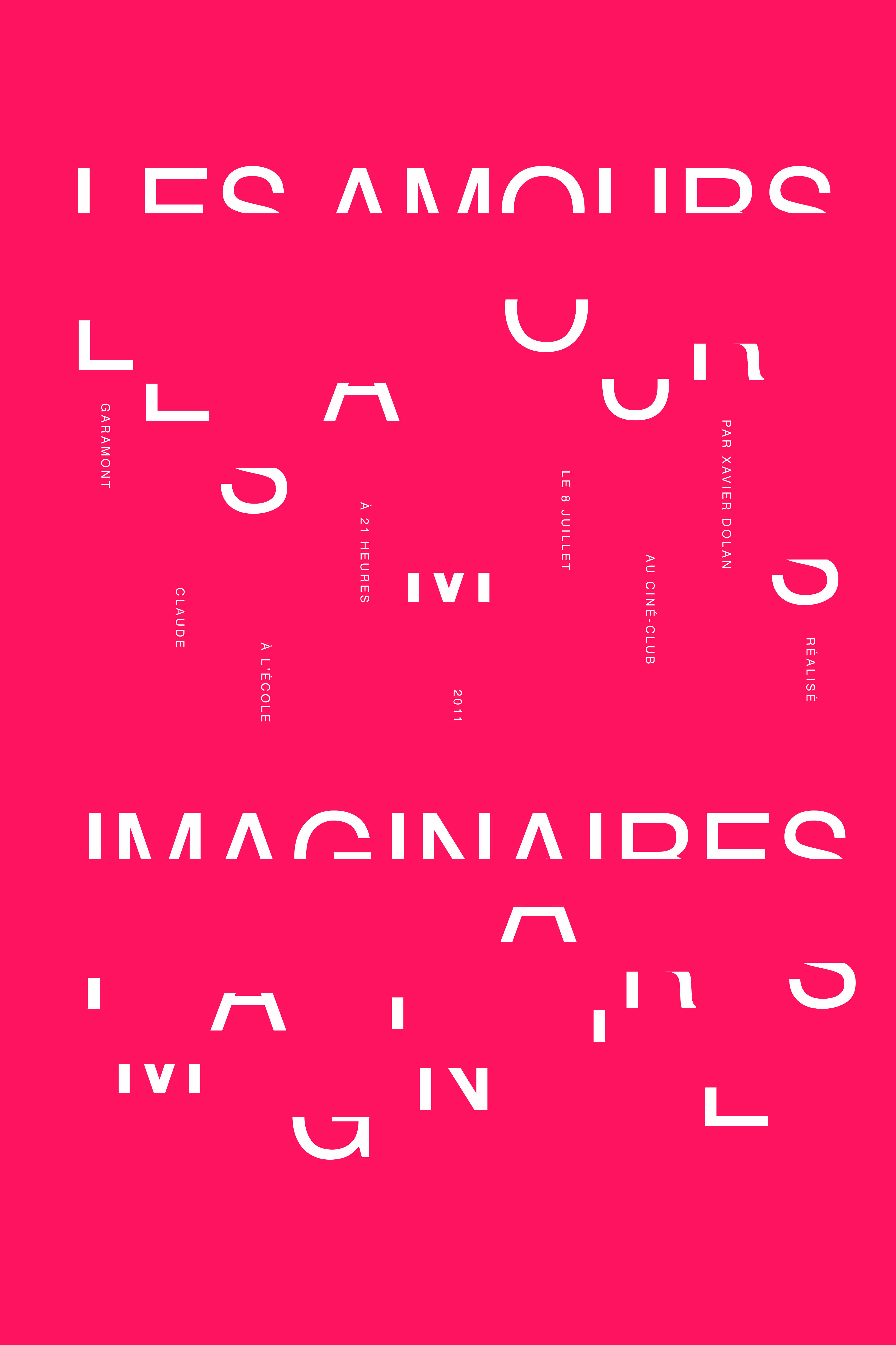 Les Amours Imaginaires by Xavier Dolan   poster by Sarah Savoyen-Glass