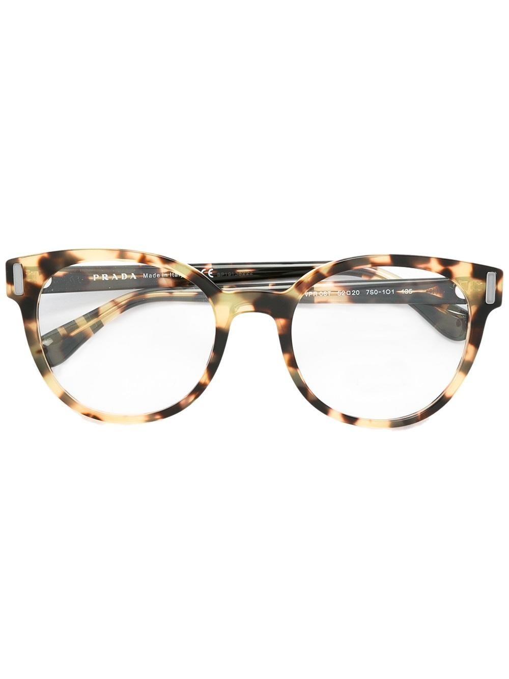 520c6129697 Prada Eyewear tortoiseshell round glasses