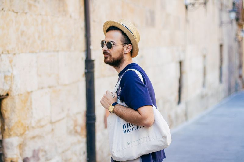 #beard #mens #streetstyle #canotier