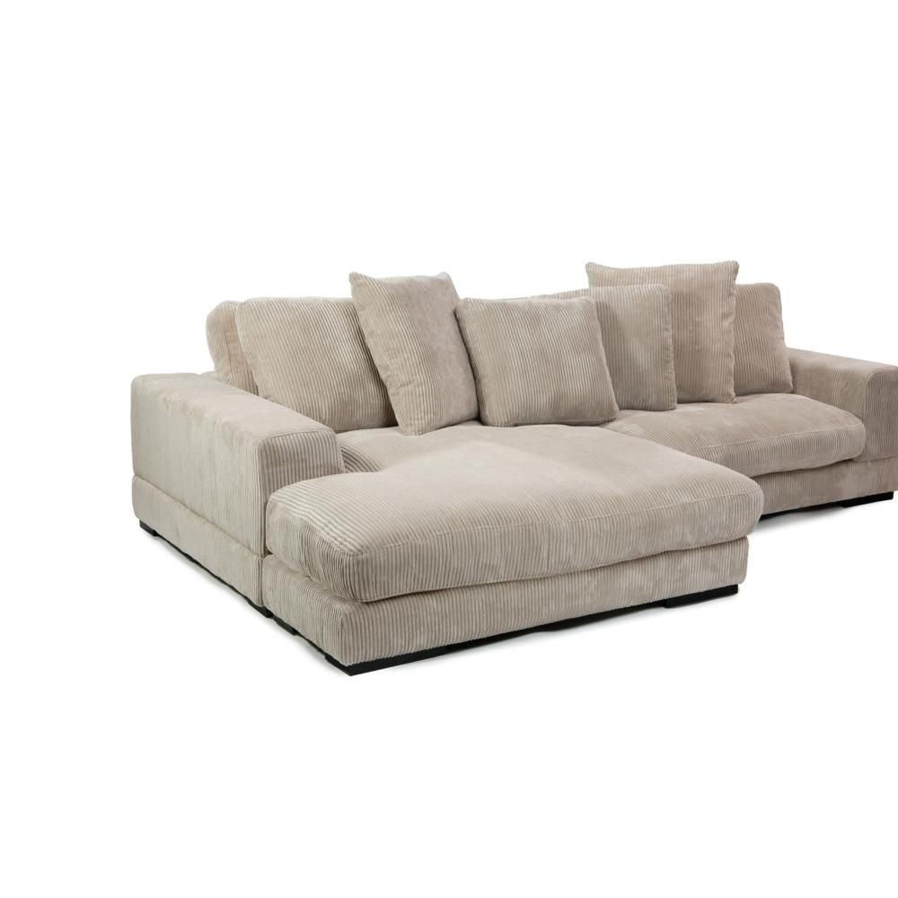 Living Room Furniture Austin Plunge Sectional In Cappuccino Corduroy Fabric Simply Austin