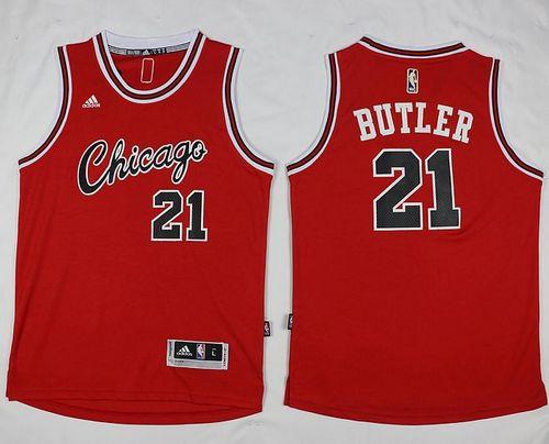 finest selection c65c3 4e514 Chicago Bulls #21 Jimmy Butler Red Hardwood Classics ...