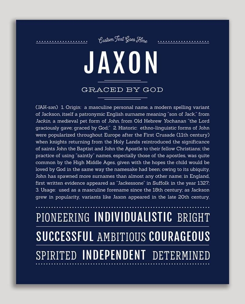 Jaxon Classic Name Print Classic Names Names With Meaning Names