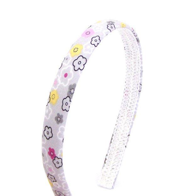 Whimsical Floral Headband  Narrow Headband in by BellaHeadbands