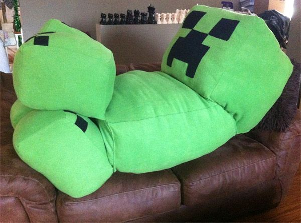 Minecraft Creeper Cushion Its So Fluffy