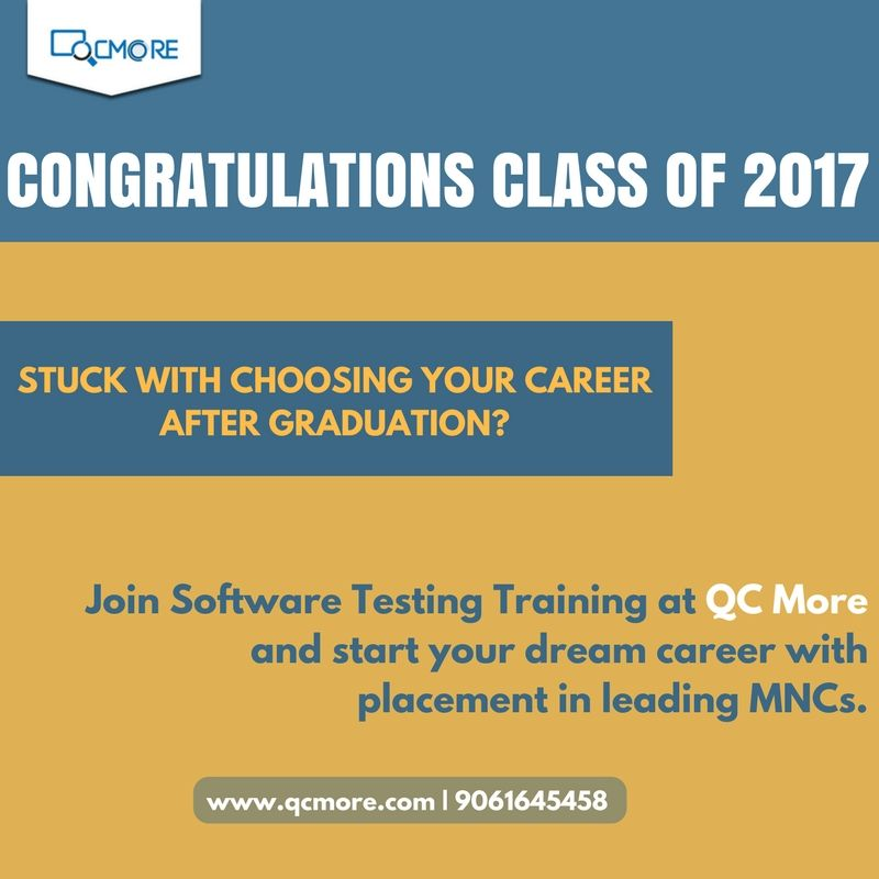 Stuck with choosing your career after gratuation? Join #Software_Testing_Training at QCmore Software Testing Training Institute Kochi and start your dream career with placement in leading MNCs. Enquire us for more info: www.qcmore.com   9061645458