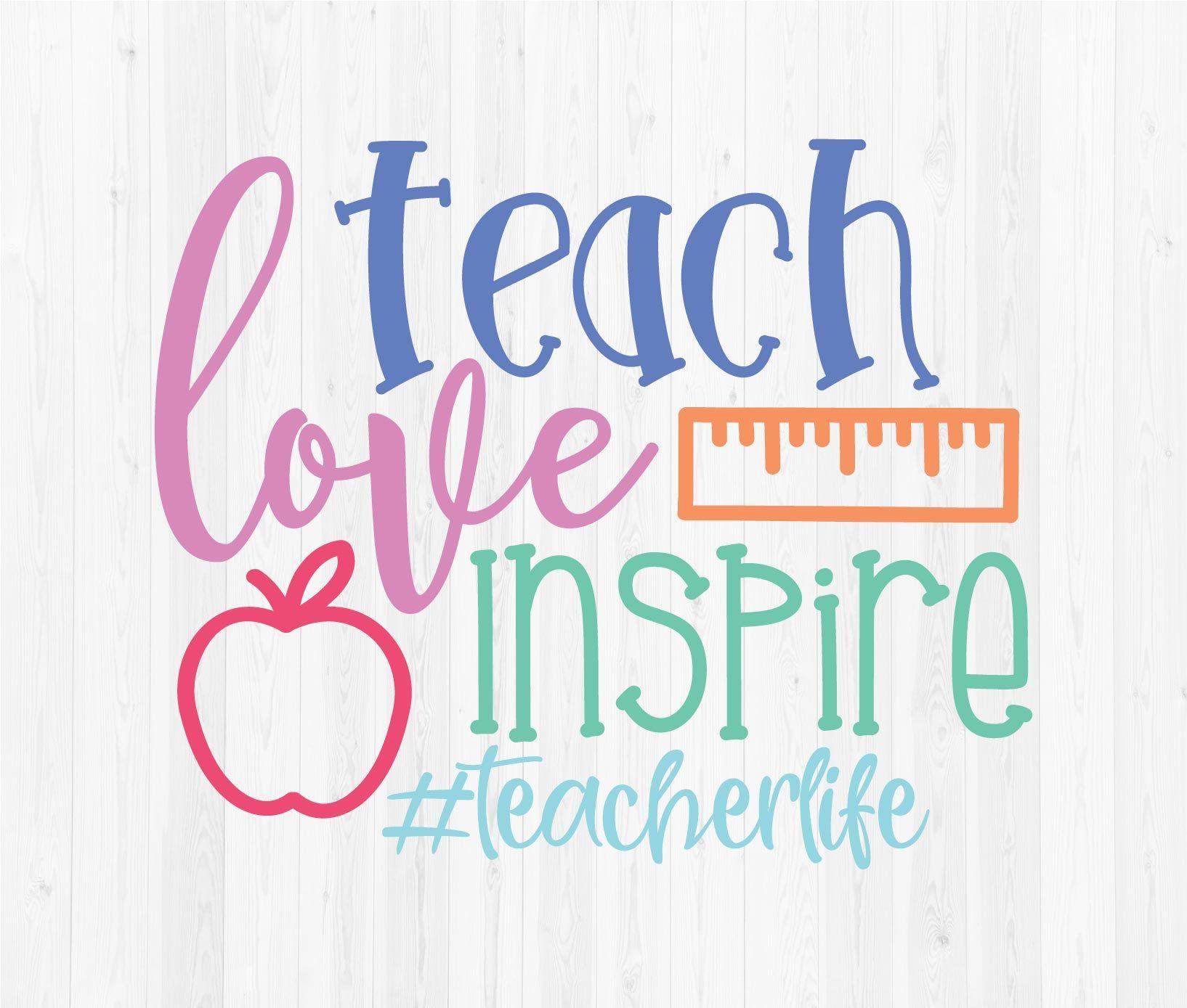 Teachers Who Love Teaching Svg
