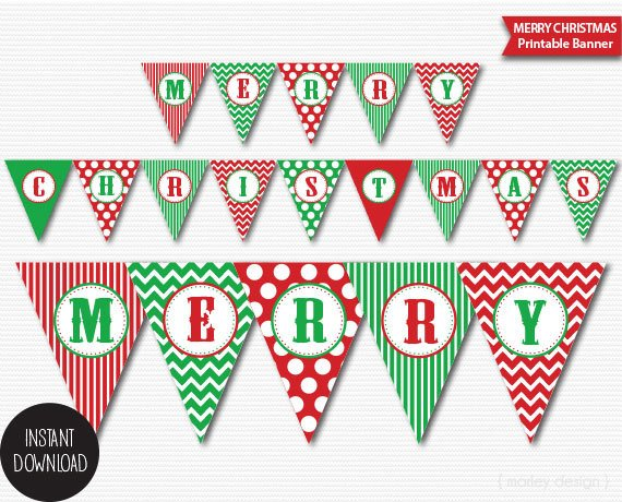 photograph relating to Printable Merry Christmas Banner known as Xmas Banner Printable Clic Hues Holiday vacation Banner