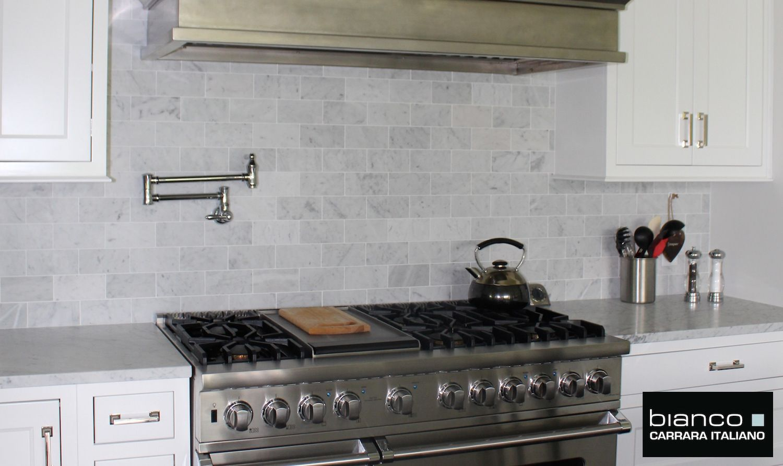 Carrera Subway Tile Kitchen Marble Subway Tile Carrara Marble Kitchen