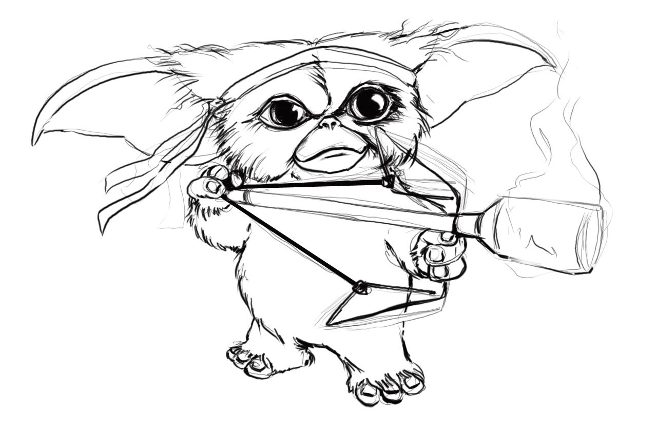 Gizmo Gremlins Coloring Pages Cc Coloring Pages Gremlins