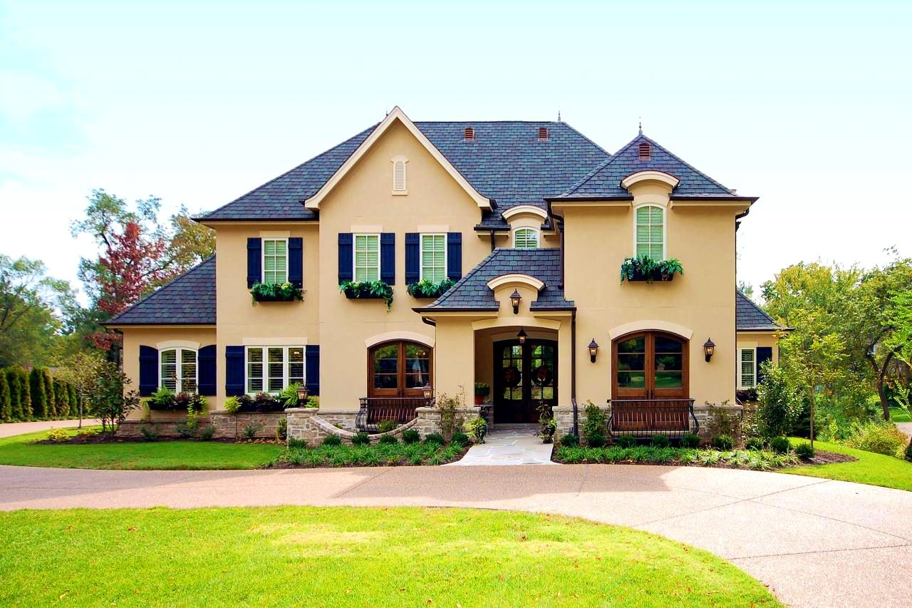 Exterior home colors with shutters - 2017 Exterior House Color Trends Exteriors Personable Exterior Stone French Country House Ideas Homes