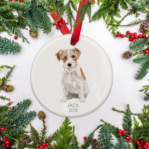 Dogs First Christmas Ornament.Jack Russell Dog Christmas Ornament Personalized Ornament