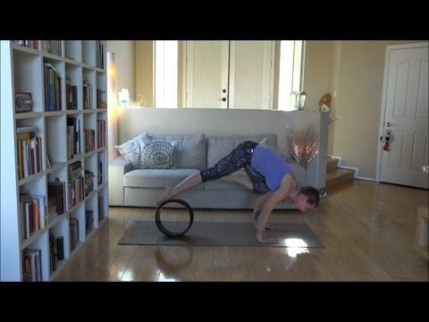 how to do bakasana crane pose with the yoga wheel  youtube
