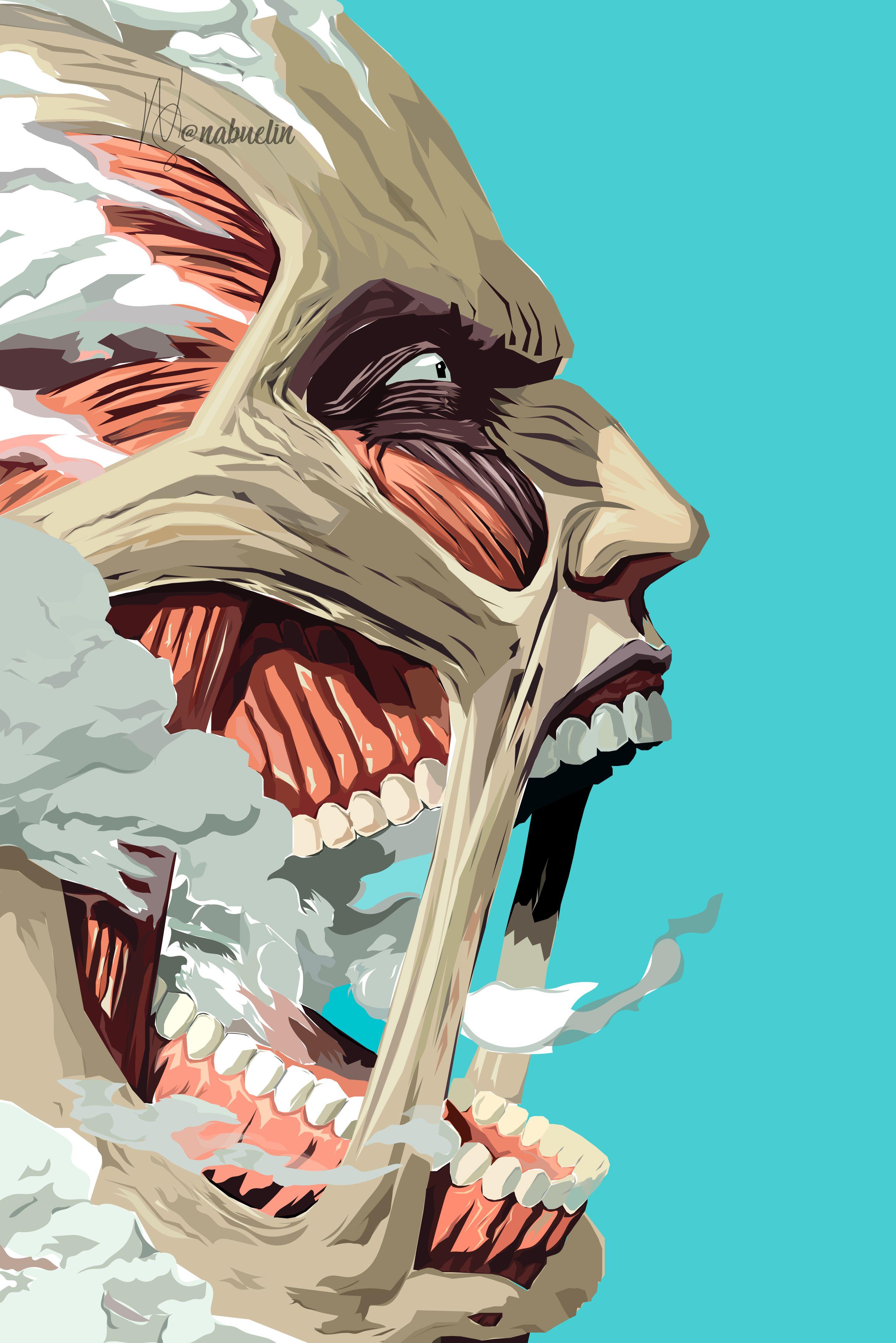 TITAN COLOSAL Shingeki No Kyojin Vector Art on Illustrator