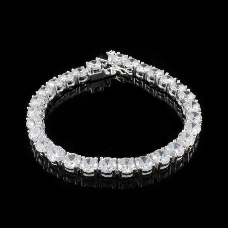 Pulseira Zircônia Branca - Pulseiras - Prata Fina - Joias em Prata