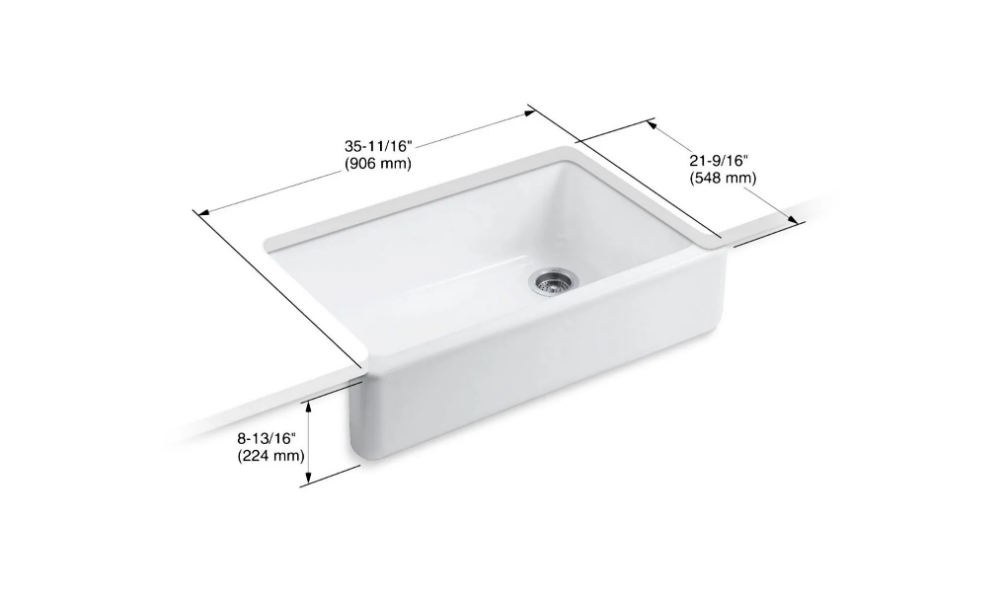 Kohler K 6489 Cast Iron Kitchen Sinks Single Basin Cast Iron