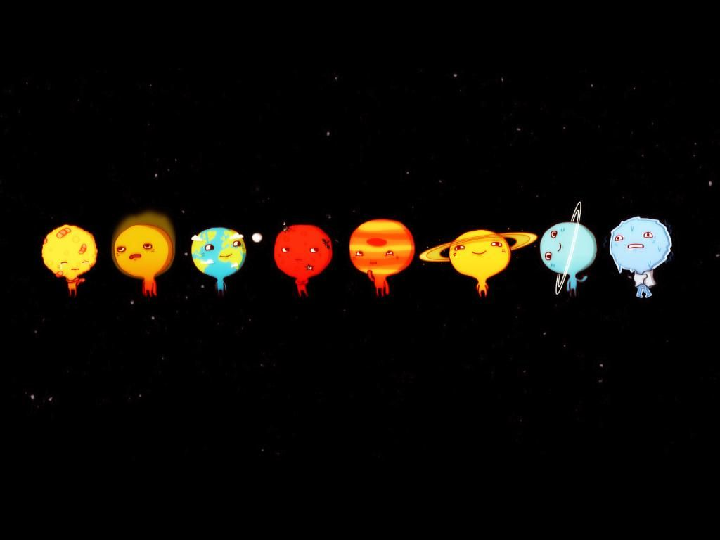 Wallpapers Neptune Cartoon Style Eight Planets Geek Com 1024x768
