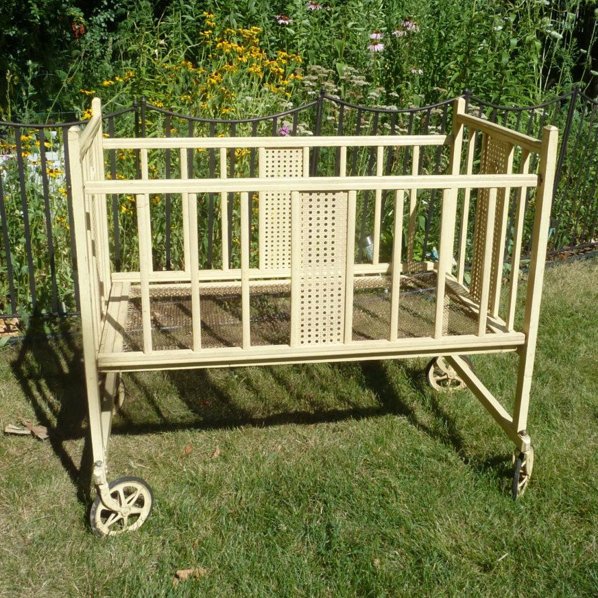 Vintage Baby Crib On Wheels Vintage Baby Cribs Antique Baby