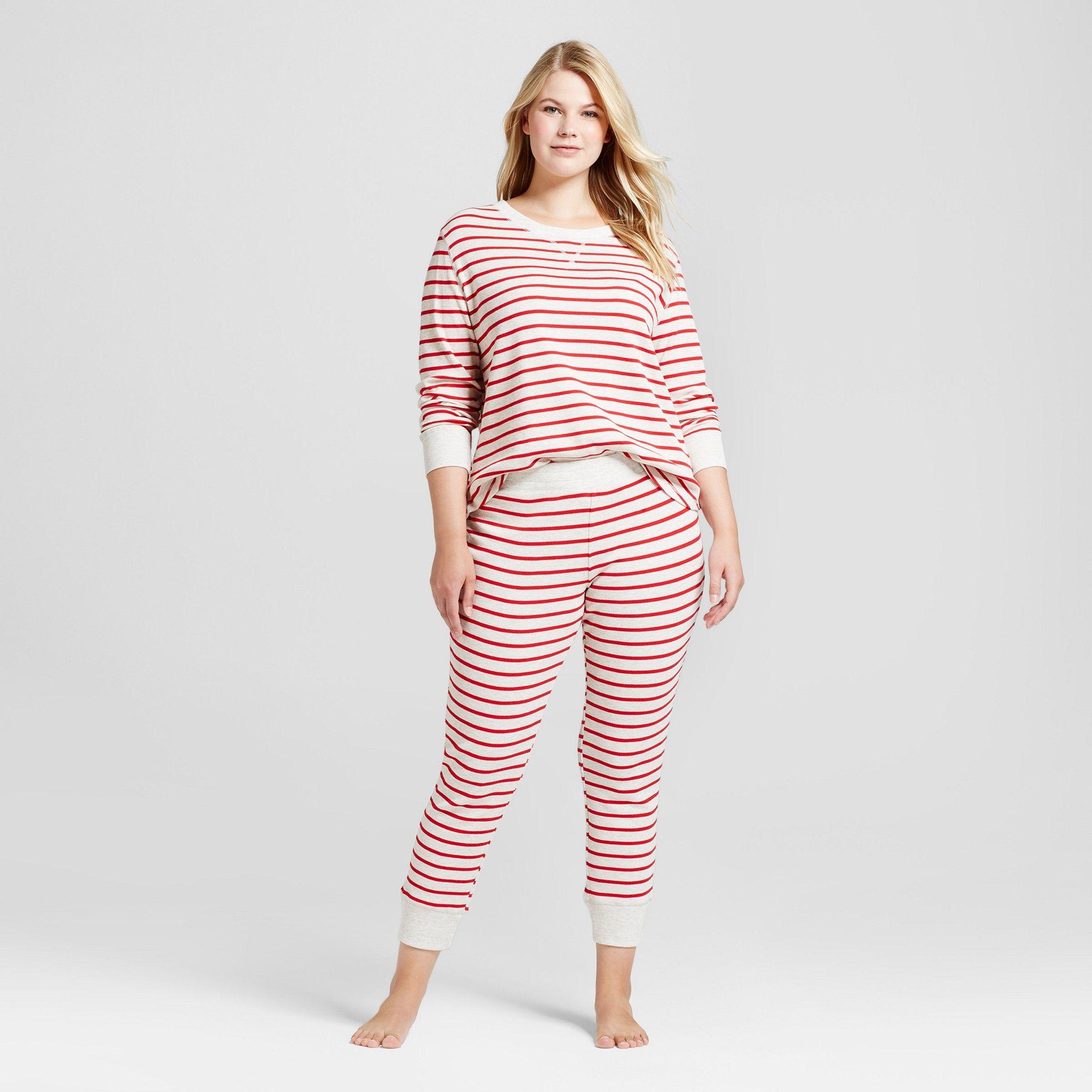 Women's Plus Size Pajama Set Gilligan & O'Malley Oatmeal