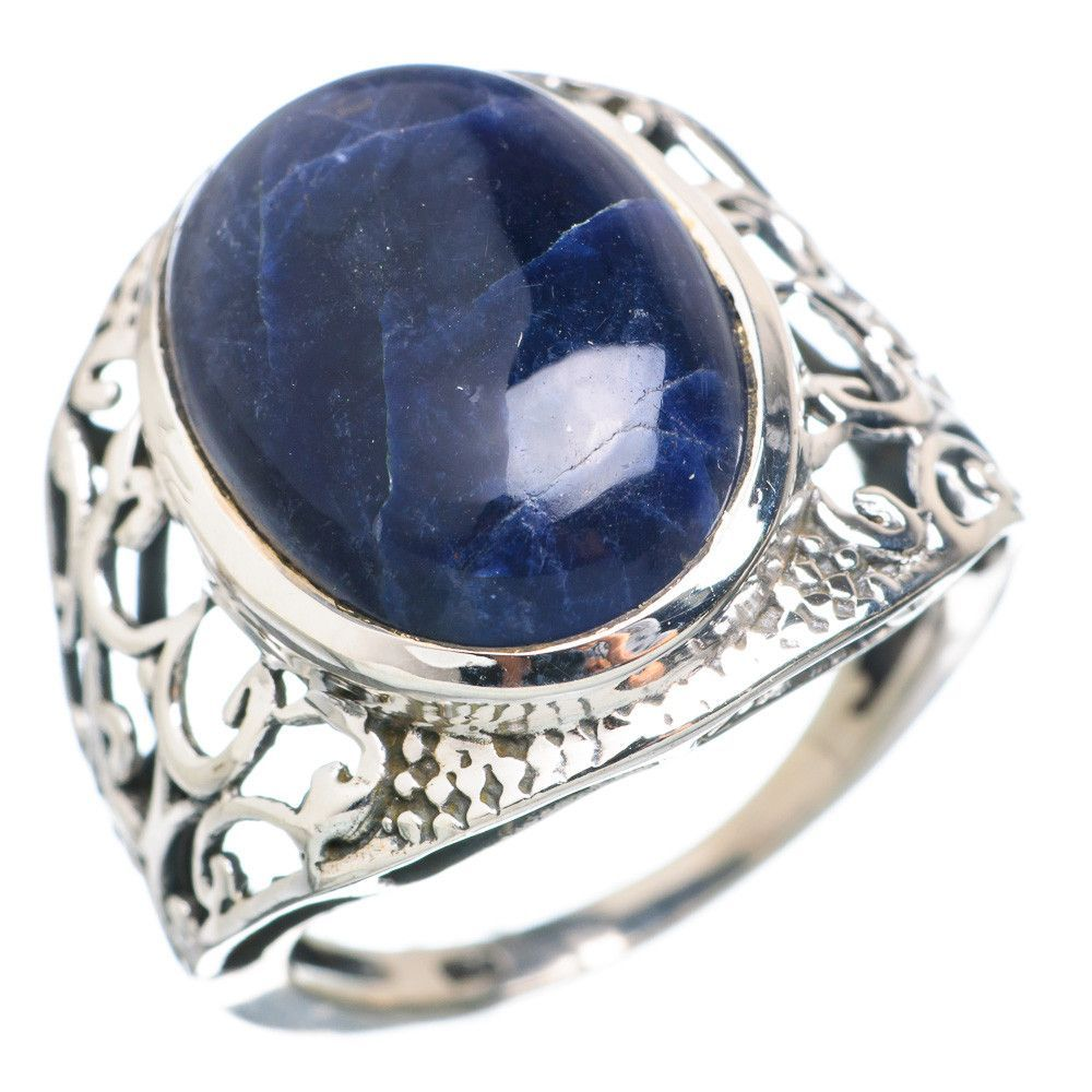 Sodalite 925 Sterling Silver Ring Size 8.25 RING732954