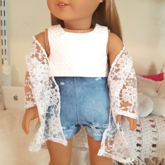 18 inch doll white crop top #dollaccessories