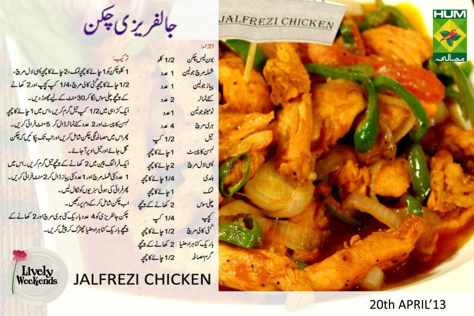 Chicken Jalfrezi Cooking Recipes In Urdu Iftar Recipes Karahi Recipe
