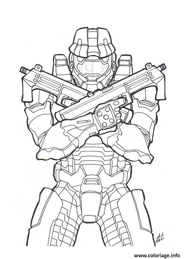 Coloriage Halo Colorier Dessin Gratuit A Imprimer Halo Drawings Halo Tattoo Halo Master Chief