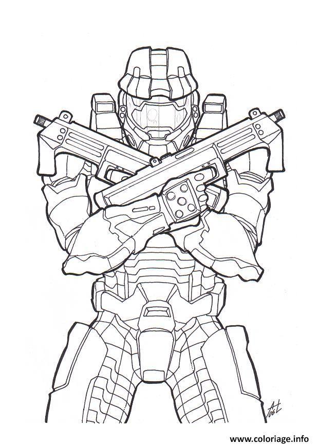 Coloriage Halo Colorier Dessin Gratuit A Imprimer Halo Drawings