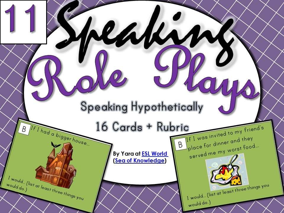 esl role play cards pdf