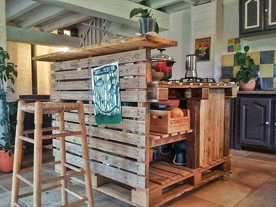 Desain Dapur Unik Dari Pallet Bekas Teknologi Konstruksi Arsitektur