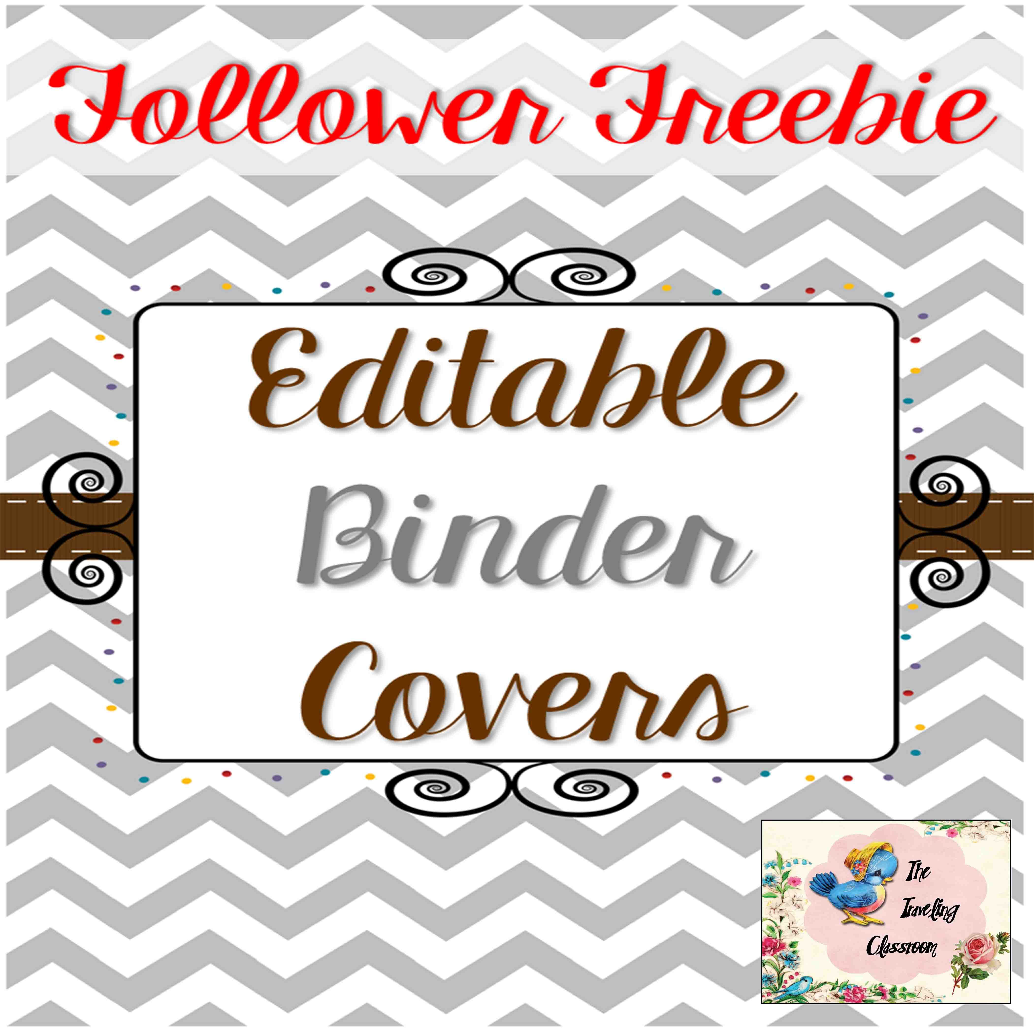 Editable Teacher Binder Covers {Chevron} -FREEBIE