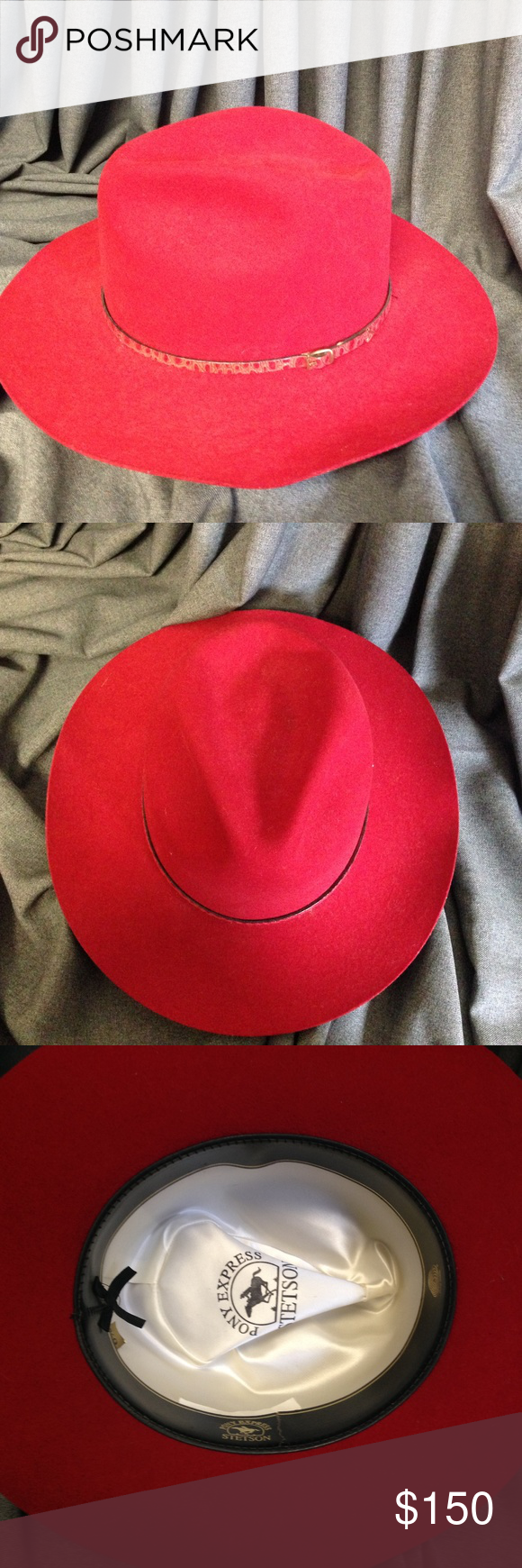 Stetson Pony Express Cindy Red Cowgirl-Cowboy Hat Stetson Pony Express  Cindy Red Cowgirl- f758c6f3f9e