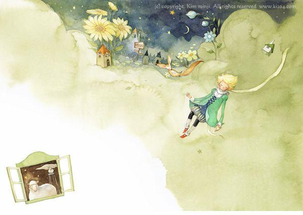 O Pequeno Príncipe – ilustrações de Kim Min Ji |