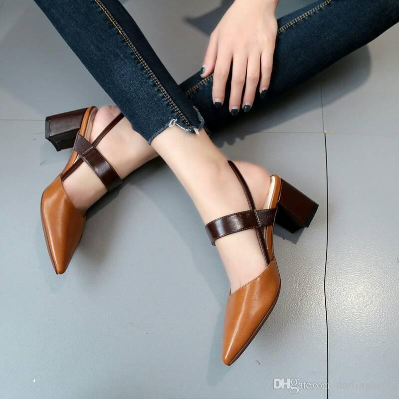 Acheter Sandale Pointue Femme Au Printemps Et En Été Sandale Vent New England Boucle La Femme Avec Des Sandales De 20,23 € Du Darlinghe66