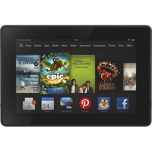 Amazon Kindle Fire Hd 16gb Black Larger Front Kindle