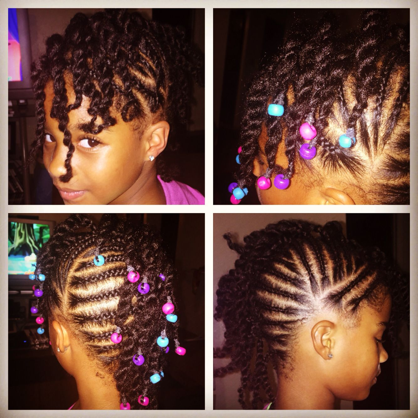 Braided mohawk with beads style for mini me pinterest braided